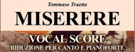 The Vocal Score of the MISERERE by Tommaso Traetta is now Available!!