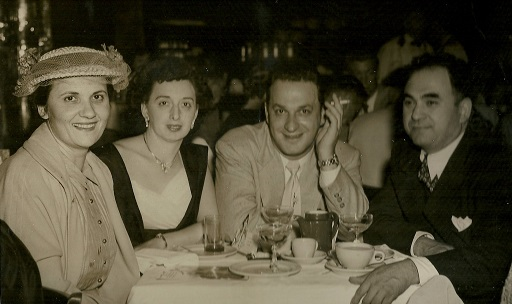 From left: Teresa Mautone-Tortora with two friend and her husband Vincent, circa 1952