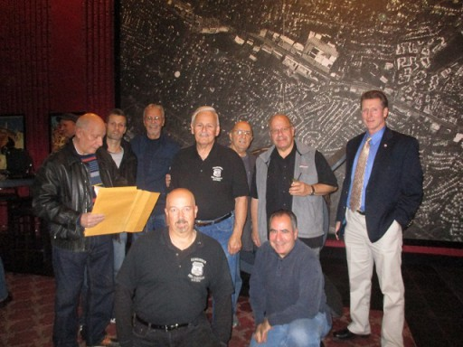 Mr. Randy Jurgnsen (third from left) and a group of retired detectives from the Bronx at the event.